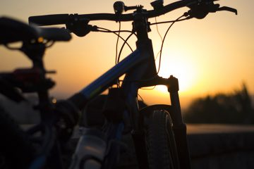 700 bike sunset detail