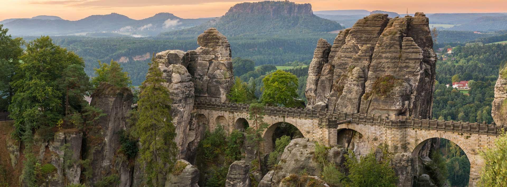 Sächsische Schweiz entdecken bei der Mountain Bike Tour mit ALPStours Sachen trails.