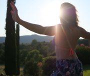 Sun Salutation bei der Bike & Yoga Woche in der Villa Rey Panicale Umbrien