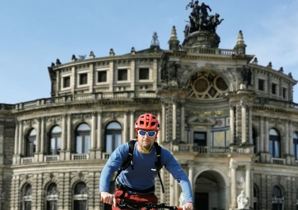 Sachsen Trails Biketour durch Dresden mit Semperoper. ALPStours