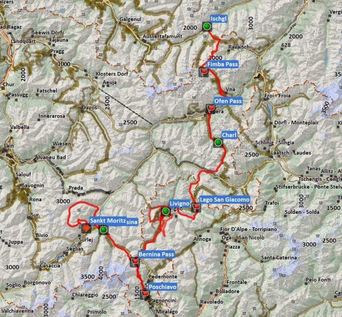 Transalp Allegra Singletrails ALPStours Karte